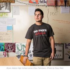 La Publicación Lakewood Advocate escribe sobre NMV: Estudiante lucha contra la violencia desde Argentina hasta Bryan Adams